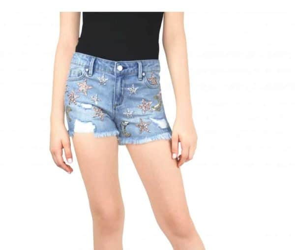 Tractr Girls Moon and Stars Shorts