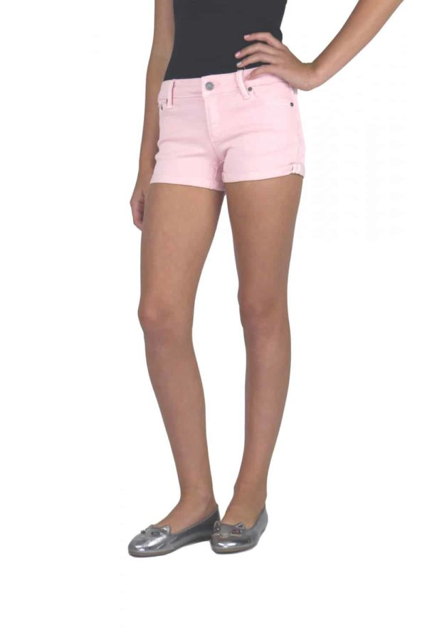 Tractr Girls Pink Denim Shorts