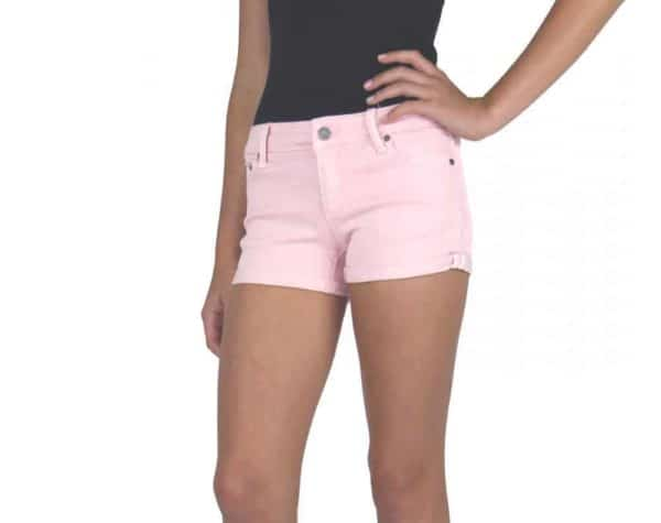 Tractr Girls Pink Denim Shorts