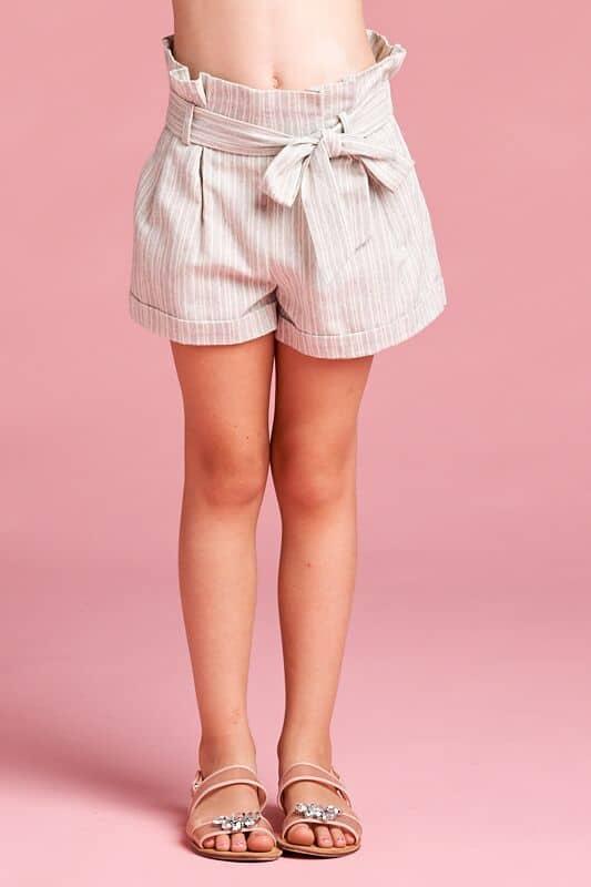 Tween Side Tie Shorts