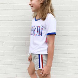 Girls Patriotic Lounge Shorts