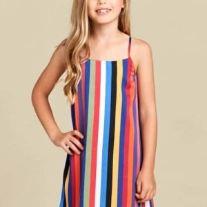Girls Rainbow Stripe Dress