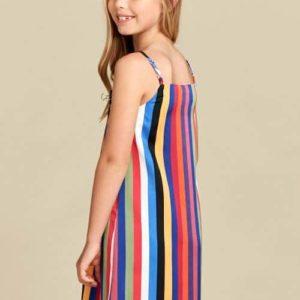 Girls Rainbow Stripe Dress