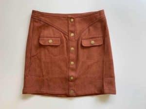 Tween Faux Suede Skirt