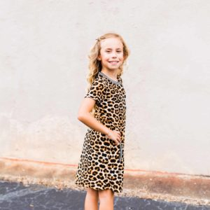 Girls Leopard Dress