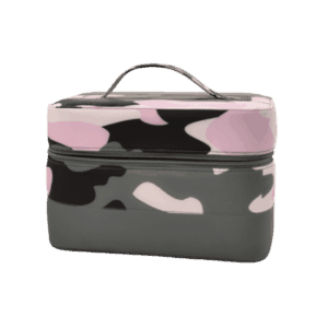 Iscream Purple Camo Puffer Cosmetic Case