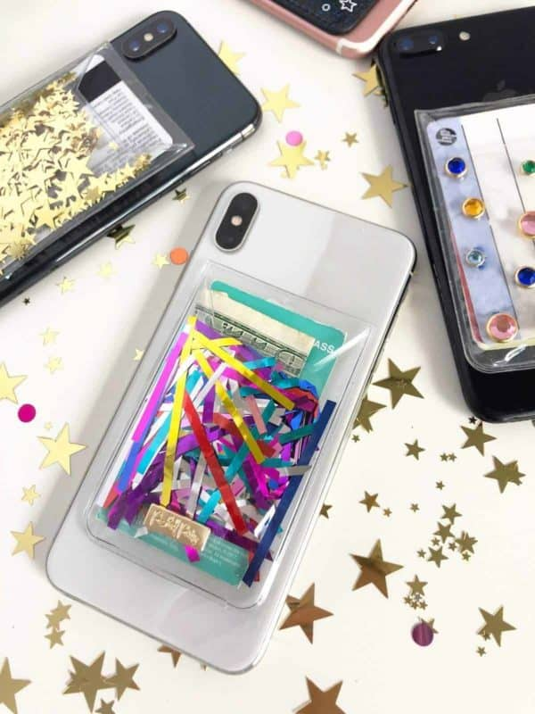 Packed Party Confetti Phone Card Holder