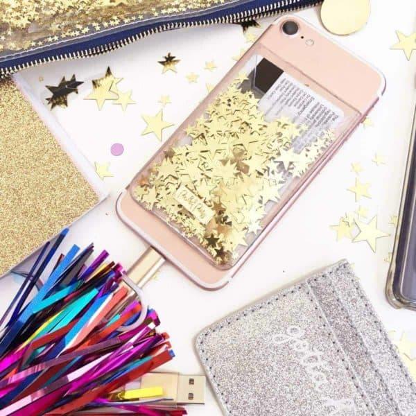 Confetti Phone Card Holder