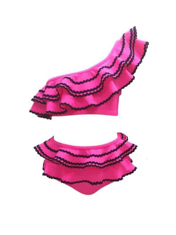 Nessi Bird Biel Swimsuit Fuchsia