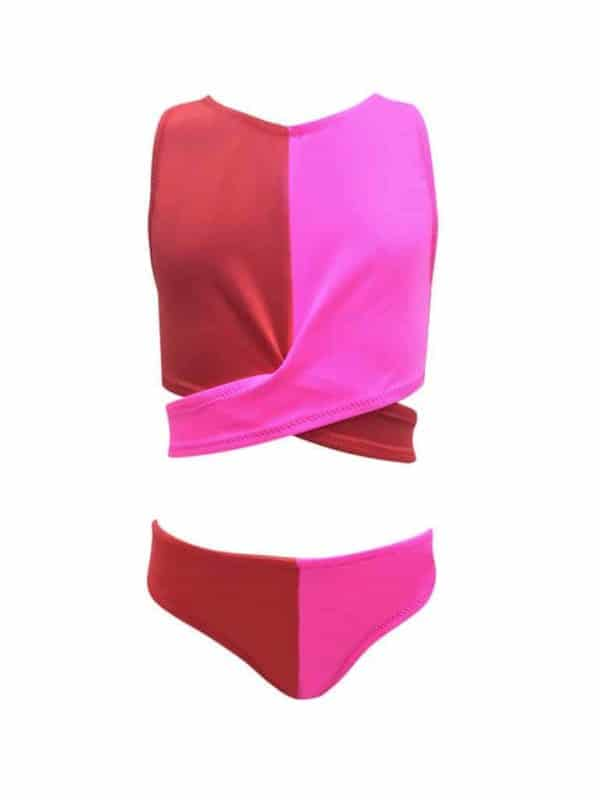 Nessi Bird Pink Red Tankini