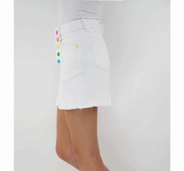 Tractr Rainbow Mini Skirt