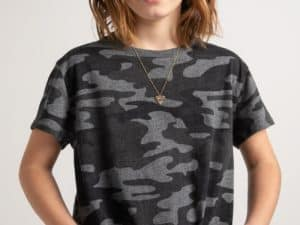 Z Supply Girls Camo Charcoal