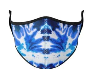 Blue Tie Dye Face Mask