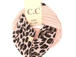 CC Beanie Leopard Kids Scarf Indie Pink