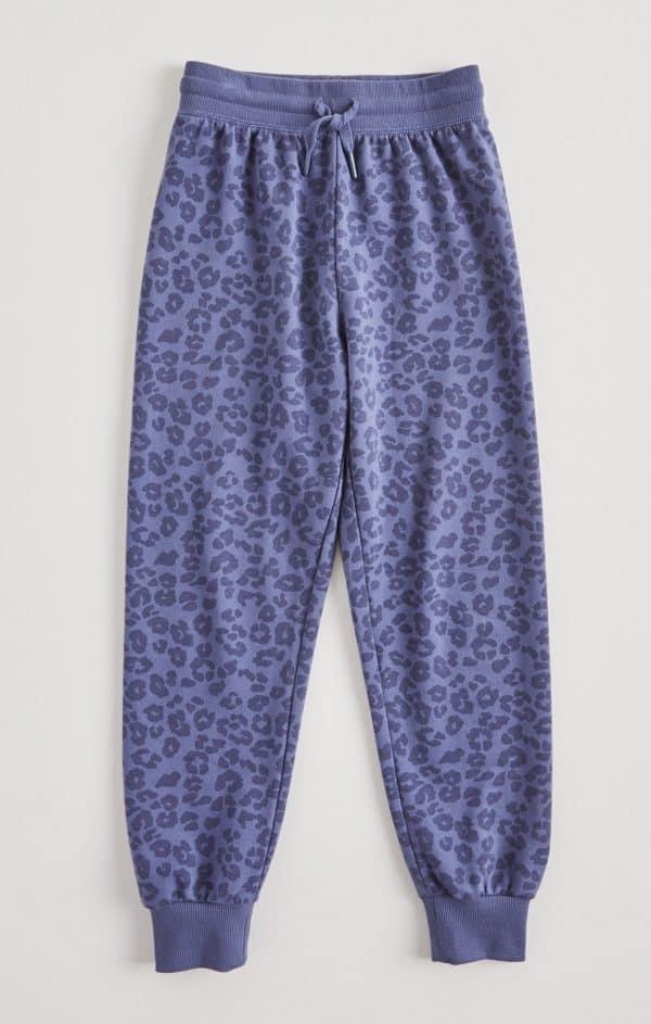 Z Supply Girls Ava Leopard Jogger Blue