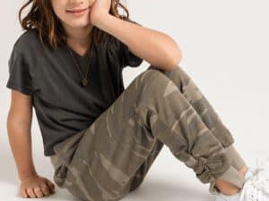 Z Supply Girls Camo Joggers Green