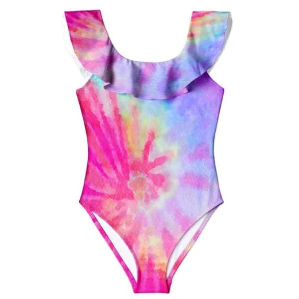 Stella Cove Pink Tie Dye Low Back Swimsuit