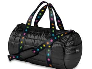 Black Duffel with Stars