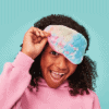 Iscream cotton candy heart quilted eye mask