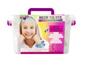 NEON TIE DYE SCRUNCHIES & HEADBAND KEEPER CRATE