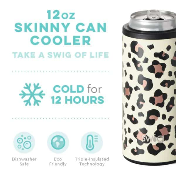 Luxy Leopard Skinny Can Cooler (12oz)