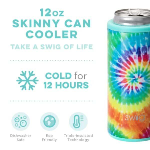 Swirled Peace Skinny Can Cooler (12oz)