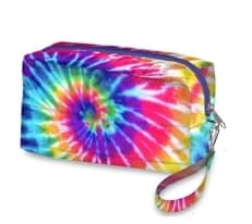 Tie Dye Primary Cosmetic Bag