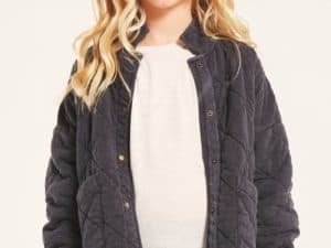 Z Supply Girls May Quilted Jacket Black