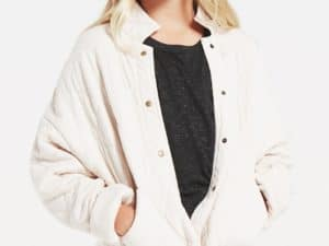 Z Supply Girls May Quilted Jacket Bone