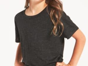 Z Supply Girls Nattie Sparkle Tee Black