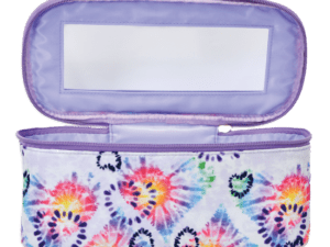 heart tie dye cosmetic case