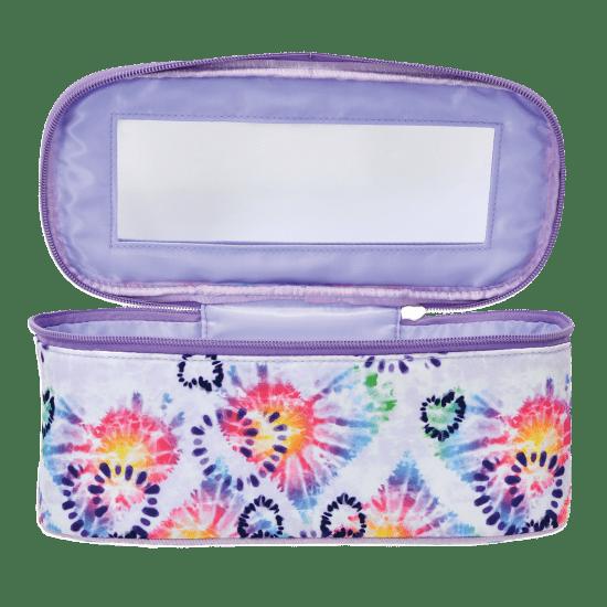 heart tie dye cosmetic case