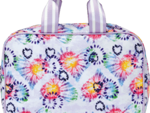 heart tie dye large cosmetic case