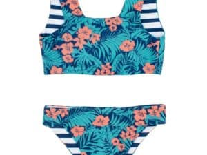 Feather 4 arrow island hopper reversible bikini.navy