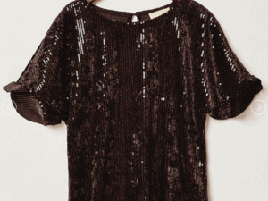 Hayden Girl Sequin Top ~ Black