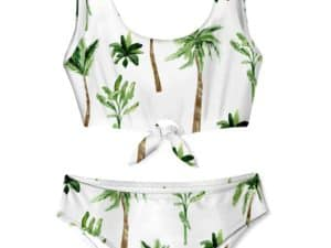 Stella Cove Palm Tree Chest Tie Bikini