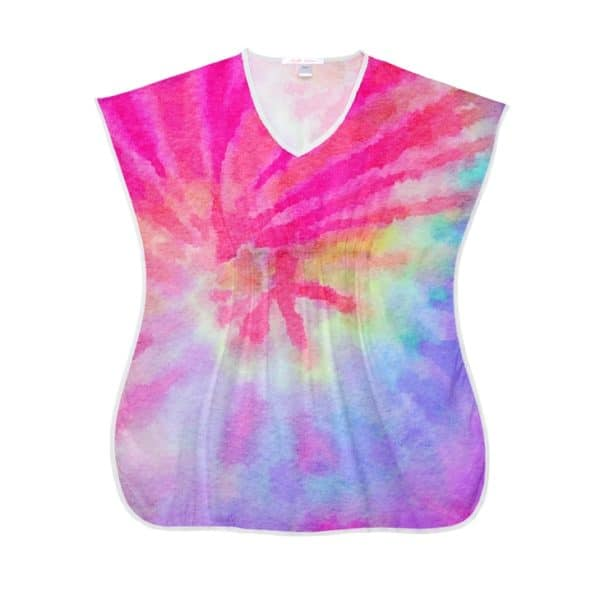 Stella Cove Pink Tie Dye Cover Up