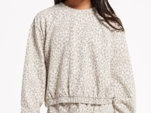 Z Supply Girls Carmen Leopard Pullover