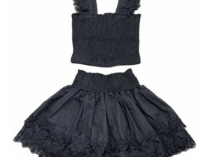 Little Peixoto Skirt Set Black