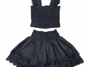 Little Peixoto Skirt Set Black