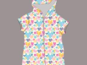 Iscream Pastrel Hearts Plush Romper