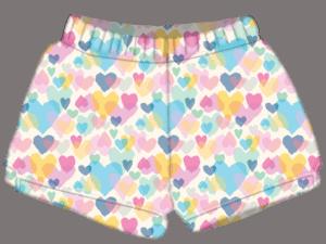 Iscream Pastrel Hearts Plush Shorts