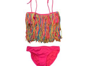 Little Peixoto Fringe Bikini Pink