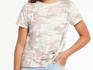 Z Supply Girls Teagan Camo Crew