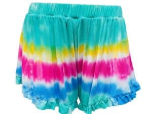 Erge Tie Dye Ruffle Short Rapture