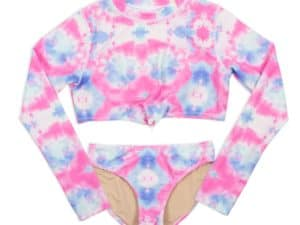 Shade Critters Cotton Candy Cropped Rash Guard