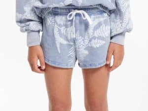 Z Supply Girls Palm Short Dusty Navy