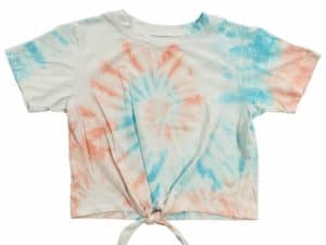 Erge Orange Blue Tie Dye Tee