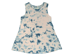 Paper Flower Pink Blue Tie Dye Top